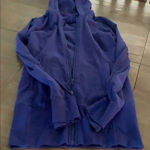 Purple lululemon hooded zip up jacket